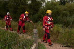 HANTSAR Team Members Searching a River Bank