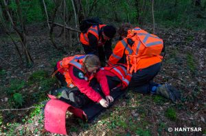 HANTSAR Team Members Training with a Stretcher
